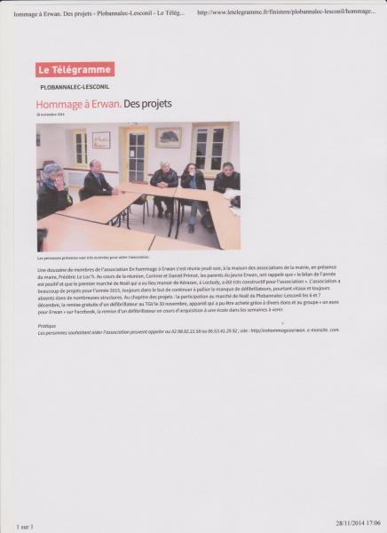 Article telegramme 001