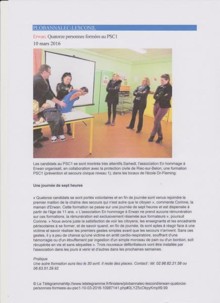 Formation psc1 telegramme le 10 mars 16 001
